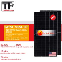 Tấm pin năng lượng mặt trời USA – Sunergy GPM 78M-HF Mono 440W